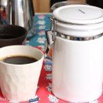 【ZEROJAPAN コーヒーキャニスター】コーヒー豆の常温保存には、密閉できる陶器のキャニスターが便利!