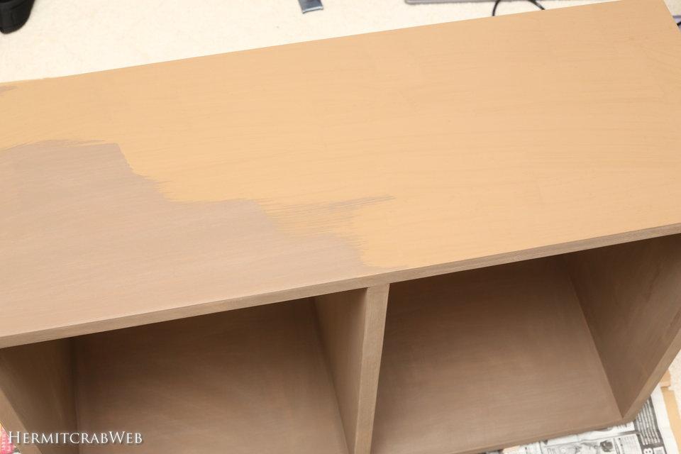 本棚を作りました。その2 仕上げ~塗装編